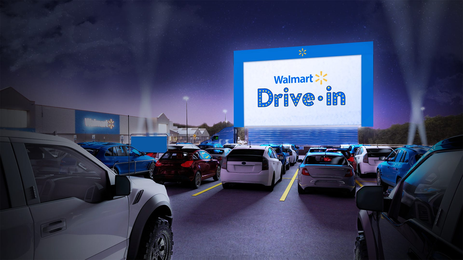 Walmart launching drive-in movie theaters at 160 stores amid COVID-19. Here s how to reserve a parking space.