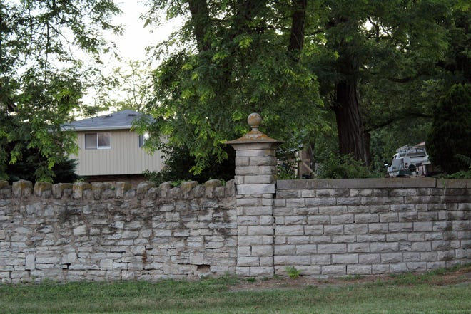 Fairfield City Council has to decide the fate of this 860-foot long stone wall along U.S. 127 that is located within the right-of-way and is deteriorating.