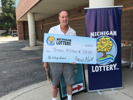 Thomas McIntyre, 56, of Belleville won a Powerball prize wroth $250,000 in April.