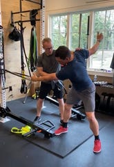 Knoxville physical therapist Adam Kerley works with PGA Tour golfer Scott Stallings, who transformed his body after devastating news from the doctor in 2015.
