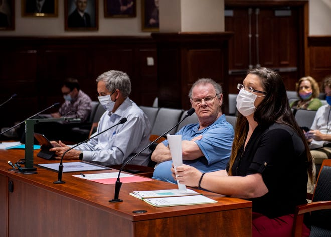 Whitney Owen of Jackson Animal Care Center speaks during the City Council Meeting in Jackson, Tenn., Thursday July 2,2020.