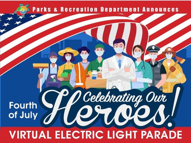 "Beginning at 10 a.m. Saturday, the City of Las Cruces will present the ""Celebrating our Heroes"" Virtual Electric Light Parade."