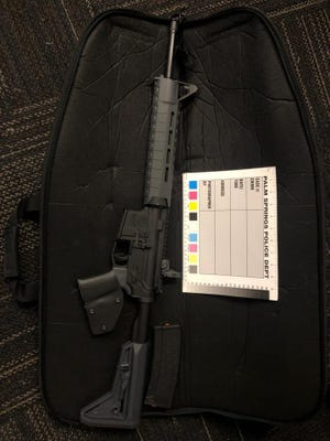 Palm Springs Police officers seized several handguns, an AR-15 style rifle and illegal fireworks between two incidents early Friday morning.