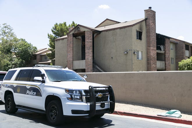 A fire burned at Morgan Park apartment complex at North 19th and Dunlap Avenues in Phoenix on July 3, 2020.