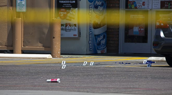 Scottsdale Police investigate a shooting that occurred at a Circle K in Scottsdale on July 3, 2020.