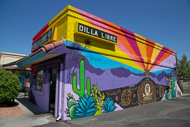 Dilla Libre in Scottsdale on July 3, 2020. Dilla Libre, a Scottsdale restaurant at the corner of Hayden and Thomas roads, is fighting to keep a mural that the city says does not meet its design guidelines.
