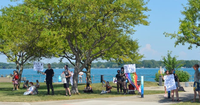 A combined Black Lives Matter and LGBT Pride demonstration took place at the boardwalk in Algonac on July 3, 2020.