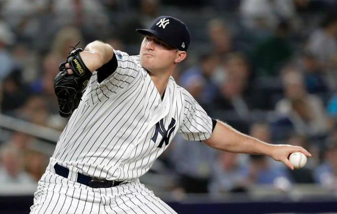 Yankees pitcher Zach Britton says talent alone will not bring success in 2020 baseball season.  Frank Franklin II/AP