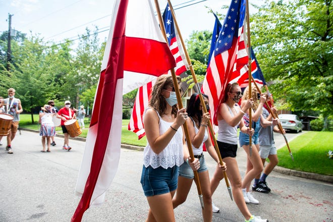 The Cloverdale-Idlewild Fourth of July parade in Montgomery, Ala., on Saturday, July 4, 2020.