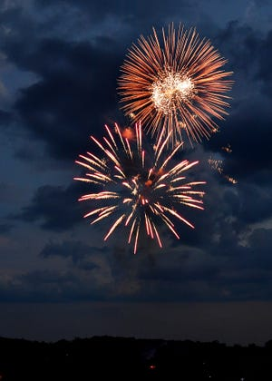 Red Lion July 3rd Fireworks seen from Fairmount Park in Red Lion, Friday, July 3, 2020. Dawn J. Sagert photo