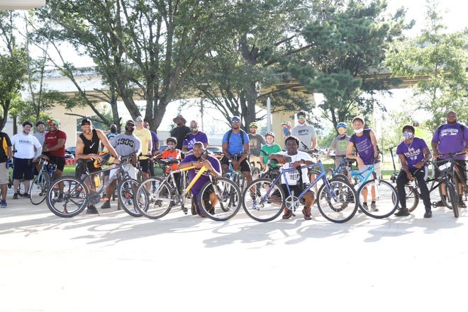 The Omega Lamplighters held the inaugural Capital City Father's Day Bike Ride and Community Celebration on Saturday, June 20, at Anita Favors Thompson Plaza.