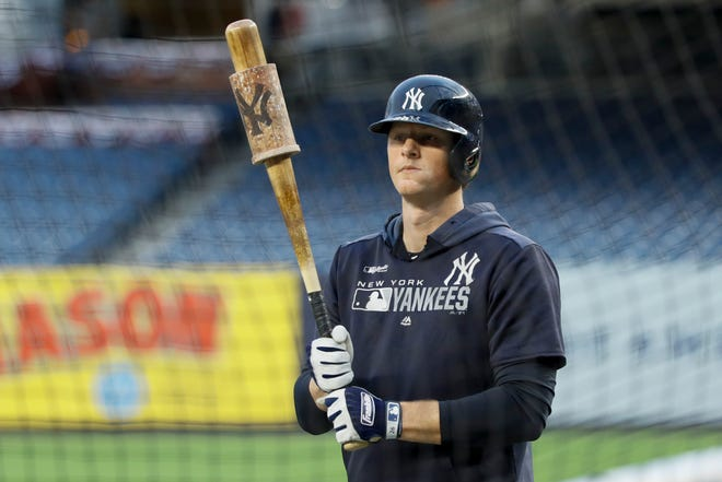 Yankees infielder DJ LeMahieu has tested positive for COVID-19 and was not present at the team's summer training Saturday. Matt Slocum/AP