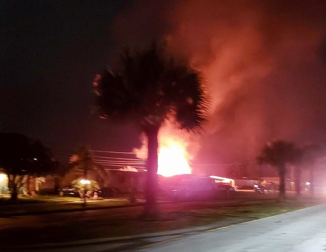 Palm Bay City Councilman Jeff Bailey photographed a Fourth of July shed fire in a Port Malabar Boulevard residential neighborhood.