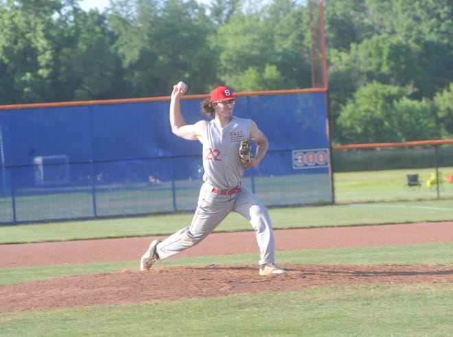 """Blaise Caudill was named MVP in the Galion Graders """"Farewell Game"""" at Heise Park."""