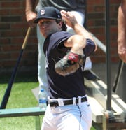 Detroit Tigers prospect Casey Mize threw a bullpen session Saturday, July 4, 2020, at Comerica Park.