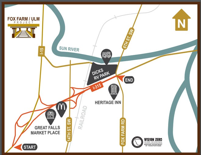 The project area includes I-315 - from I-15 to the Country Club Boulevard/Fox Farm intersection - as well as the I-15 exit ramp at 10th Avenue South, and the 14th Street Southwest bridge ramps. These roads will be resurfaced and guard rail will be replaced.