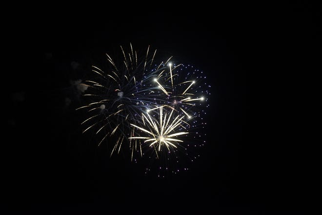 Hundreds of people attended the Galion fireworks Saturday night.