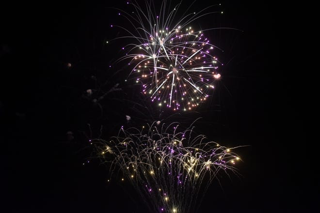 Hundreds of people attended the 2020 Galion fireworks at Heise Park.