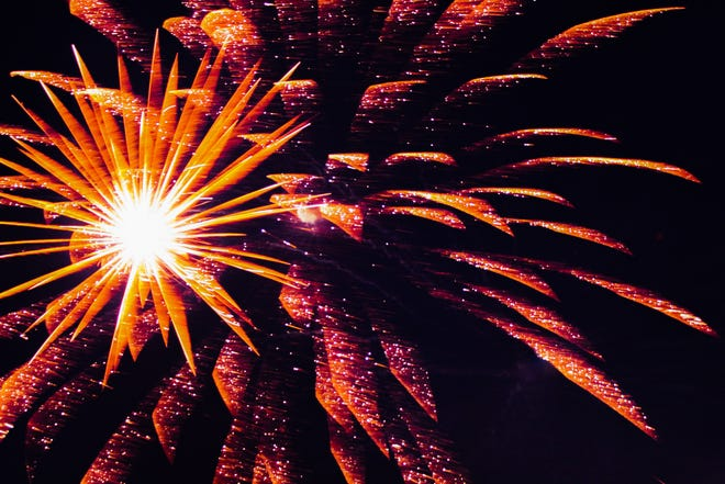 Fireworks lit the sky at the Marion County Fairgrounds on July 4, 2020.