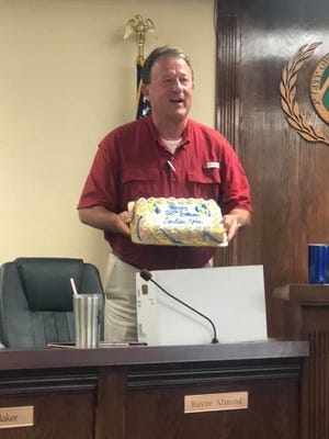Mountain Home Mayor Hillrey Adams surprised City Council members on Thursday, July 2, with a birthday cake in recognition of the city's 132nd birthday. The City of Mountain Home was incorporated on July 2, 1888.