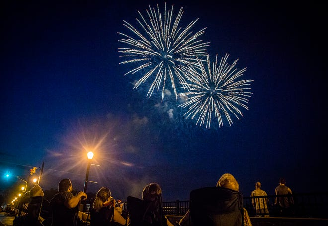 A smaller than average crowd attended the 2020 Fourth of July fireworks show in downtown Muncie due to COVID-19.
