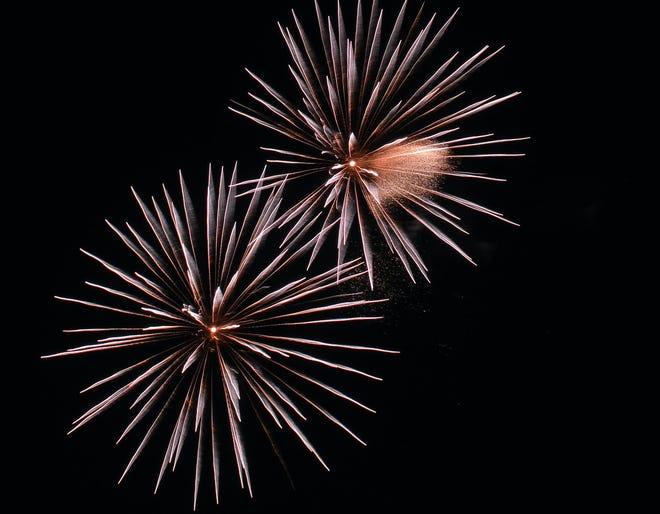 Fireworks light up the night sky in Las Cruces on July 4, 2020.