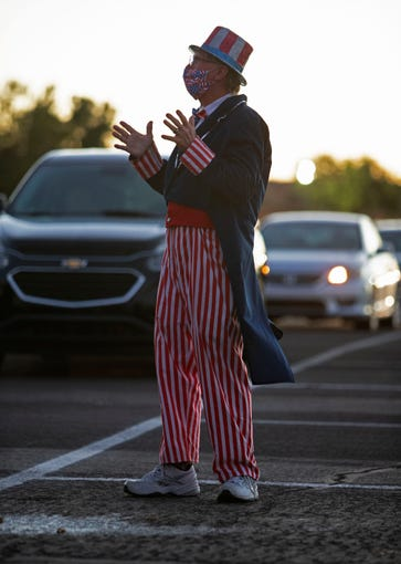 Rodger Pryor dresses up for the festivities on July 4, 2020, at WestWorld in Scottsdale.