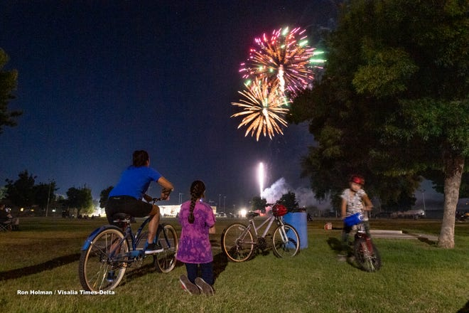 Exeter's annual 4th of July fireworks show, hosted by Exeter Lions Club, entertained locals and visitors on Saturday, July 4, 2020.