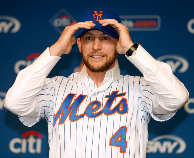 Mets infielder Jed Lowrie has chosen to not reveal the diagnosis of an injury that he kept him out of action for most of the 2019 season after signing a free-agent deal with the club. KATHY WILLENS/AP