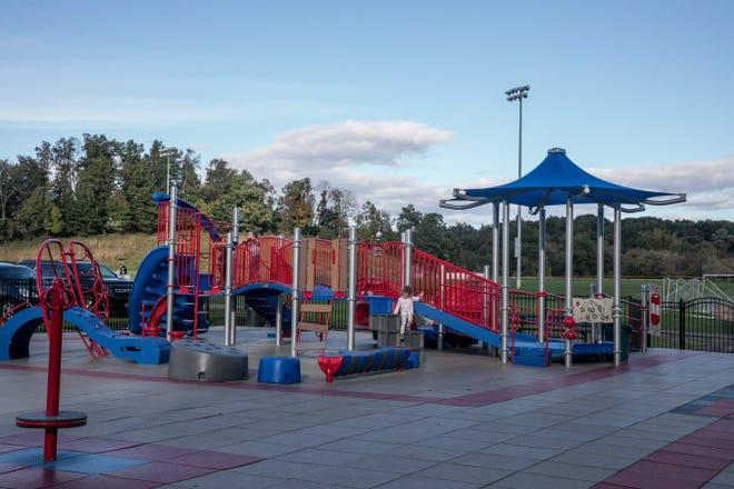 Playground in Kristi Babcock Memorial Park in New Windsor.