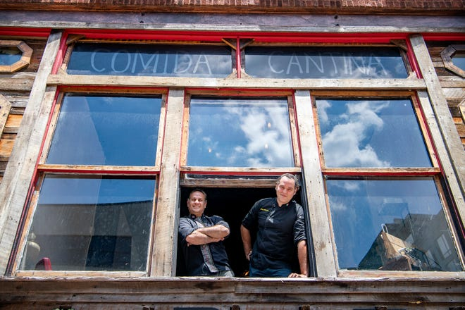 Chefs Santiago Vargas, of the former Out of the Blue food truck, left, and Ricardo Carrasco, of the former Polanco, are behind Pachamama5 in the Market Street location downtown that once was Polanco. The restaurant will serve pan-Latin American tapas.