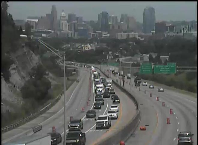 Construction on Interstate 75 at the Cut-in-the-Hill snarls traffic for motorists.
