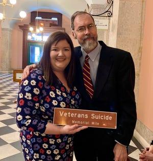 State Rep. Jessica Miranda and Howard Barry