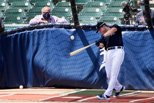 Spencer Torkelson launches a few deep ones Saturday at Comerica Park.