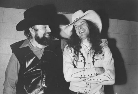 Charlie Daniels and Ted Nugent on March 13, 1981.