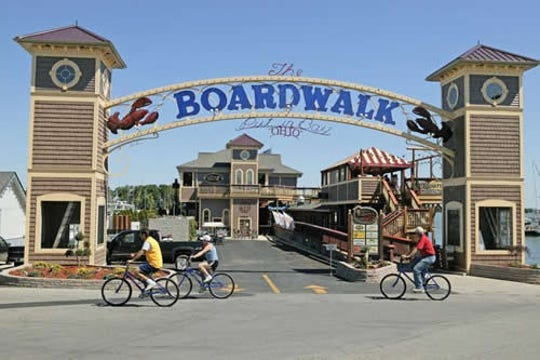 The Boardwalk closed Sunday to clean its 7 restaurants and businesses, with the hope of reopening Thursday.