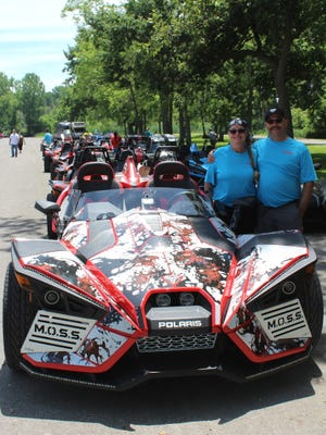 Keith and Janet Behrendsen organized a ride for Mid-Ohio Slingshots.