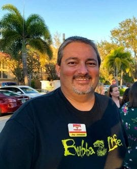 Jay Johnson, chair, Lee County Restaurant & Lodging Association and owner of Bubba's Roadhouse and Saloon in Cape Coral.