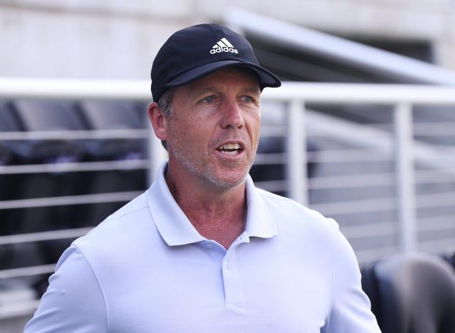 John Hackworth began as Louisville City head coach in 2018.