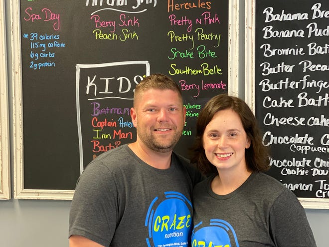 Jonathan and Brandi Reed are the owners of Craze Nutrition in Germantown.