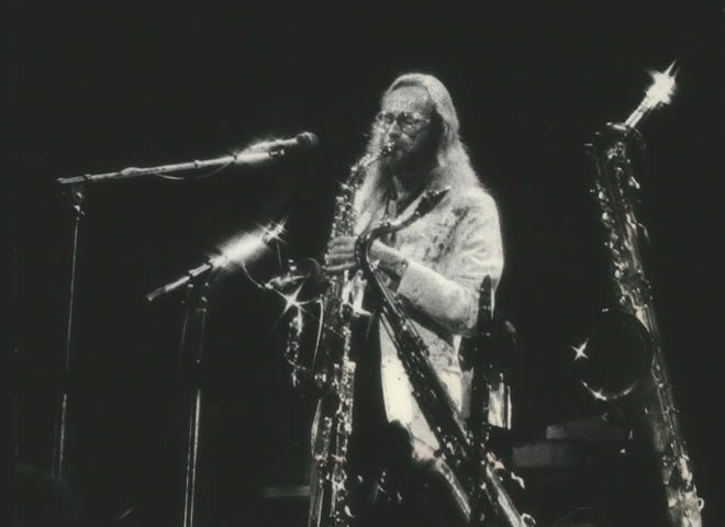 John Helliwell of Supertramp performs at a Milwaukee show in 1979.