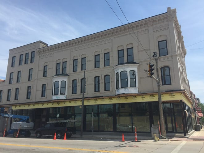 The National Block development, which is adding upper-floor apartments, now wants to operate a street-level events venue.