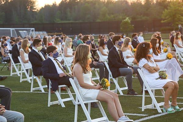 Wisconsin High School Holds Outdoor Graduation Ceremony Coronavirus