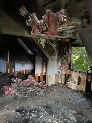 Lyon Township firefighters responded Sunday, July 5, 2020, to a fire on Pontiac Trail