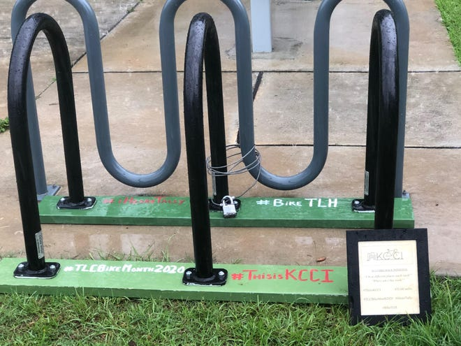 The Traveling Bike Rack from the Knight Creative Communities Institute  #BikeTLH Campaign