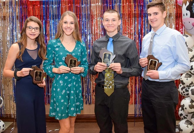 Colton Brandel, right, and his sister, Ashley Brandel, were among the Young Distinguished Junior Members that went on to compete on the national level with follow Wisconsin delegates, Ava Endres and Jacob Harbaugh.