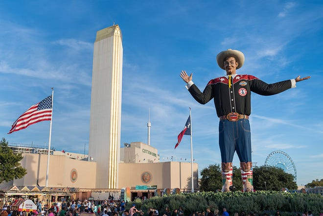 Big Tex is the symbol of the State Fair of Texas