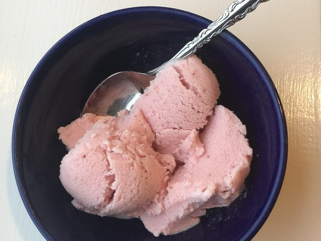 You don't need a machine to make this strawberry ice cream.