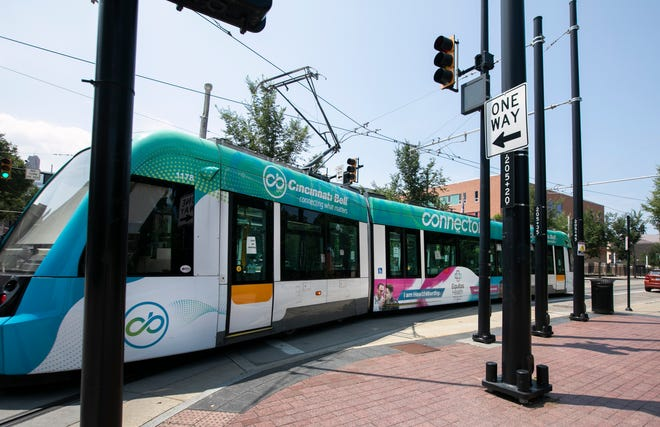The Cincinnati Bell Connector is not in service at the moment, but was making the rounds in Over-the-Rhine, Tuesday, July 7, 2020. Beginning July 9, 2020, masks will be required inside the city of Cincinnati when inside any establishment, including buses.