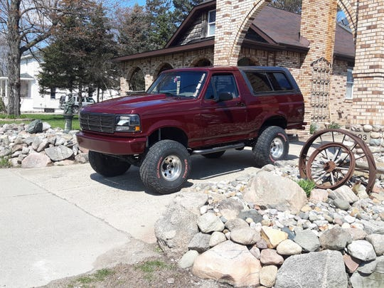 A photo provided by John Parks shows his fifth Bronco, a burgundy-colored 1996 Full-Size Bronco.